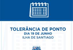 Tolerância de Ponto no dia 19 de junho