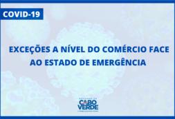 Covid19 - Governo comunica as exceções a nível do Comércio face ao Estado de Emergência