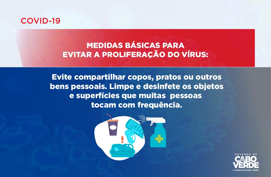 COVID 19 – MEDIDAS BÁSICAS PARA EVITAR A PROLIFERAÇÃO DO VÍRUS -07